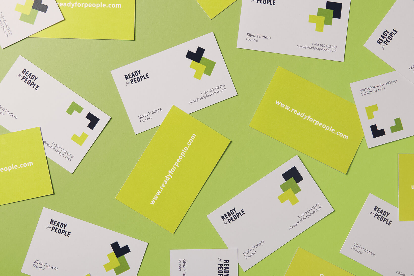 Logotype and stationery design for Ready for People