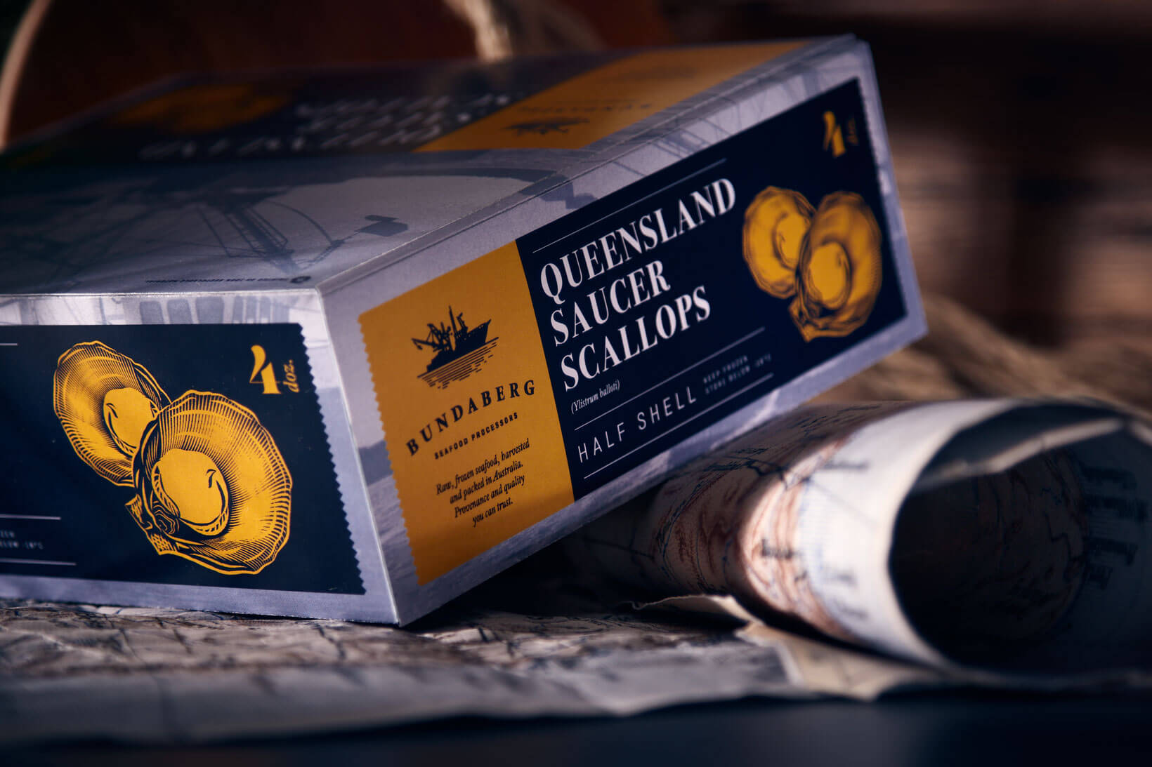 Packaging and branding design for seafood products